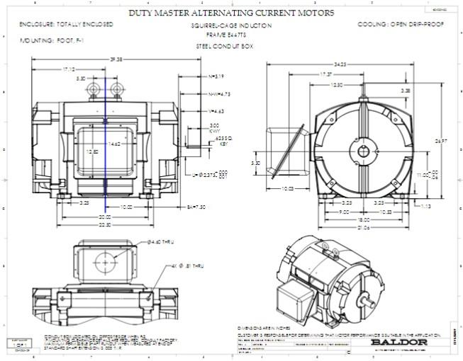 EM251302T-4 Baldor Three Phase, Open Drip Proof, 300HP