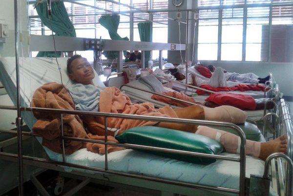 Burmesisches Minenopfer - Erst eine Prothese ermöglicht wieder ein selbstständiges Leben.