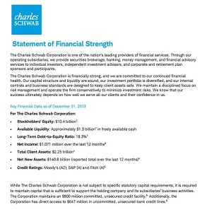 Schwab Financial Strength