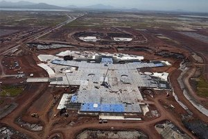 The construction is already ongoing or the Texcoco airport.