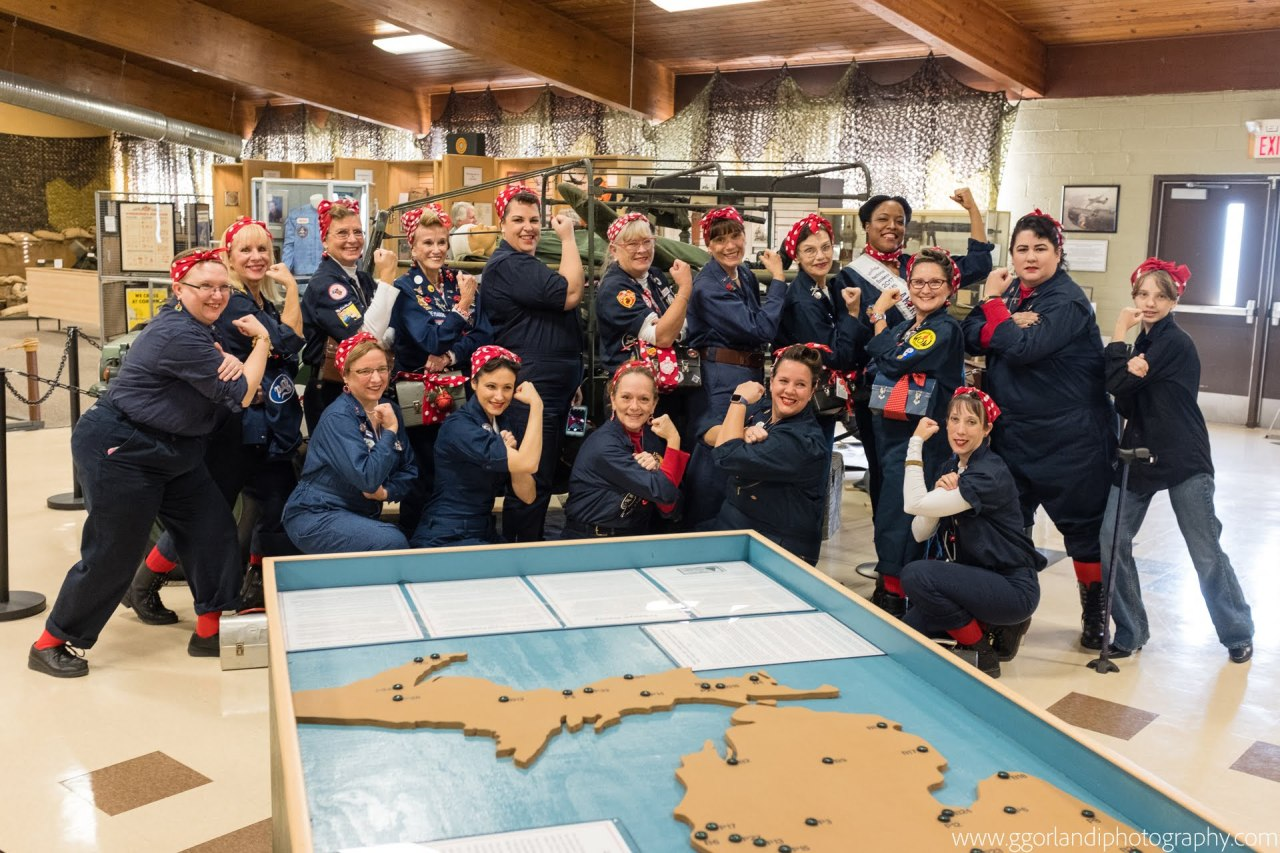 rosie the riveters group photo