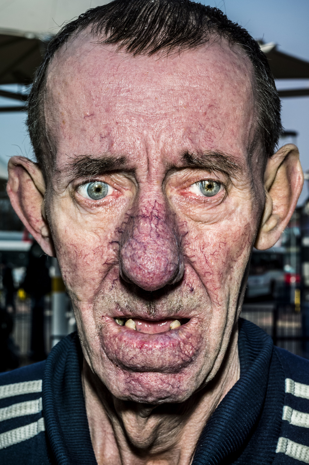GB. West Bromwich. 2014. Peter at the bus station.