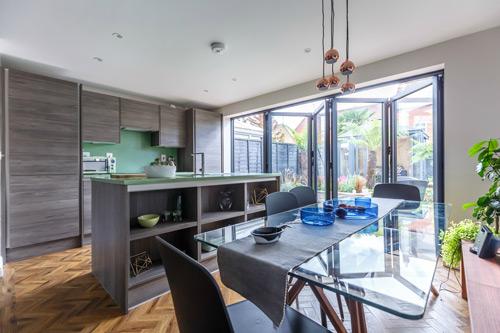 Räum aluminium bi-fold doors from Dekko recently featured on ITV's Love your Home & Garden