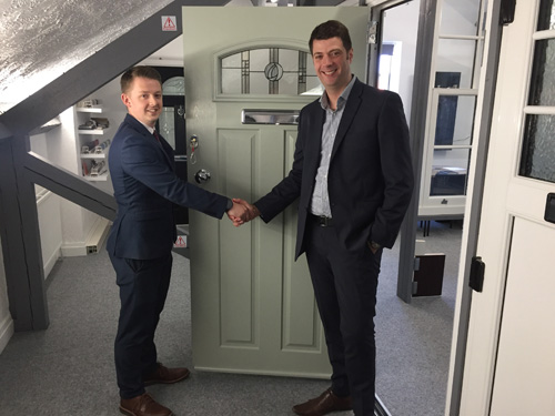 from left to right: Jason Grafton-Holt of B & P with Richard Diliberto of Solidor Group.