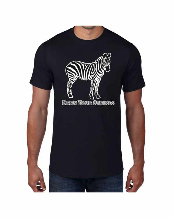 Good Vibes Earn Your Stripes Black T-shirt