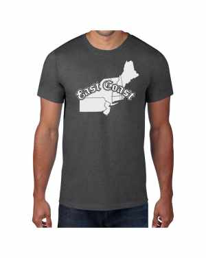 Good Vibes East Coast Map Gray T-shirt