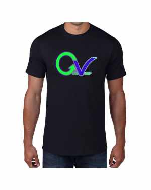 Good Vibes Green Purple Logo Black T-shirt