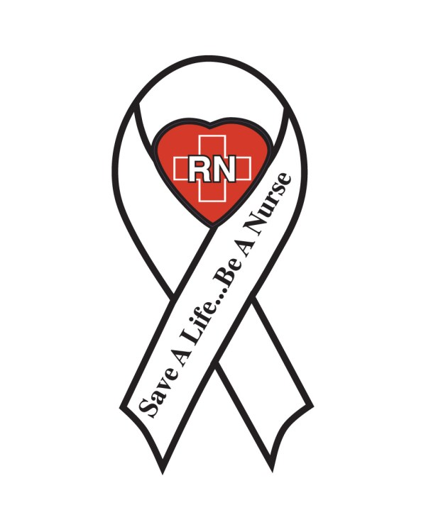 "Save a Life Be a Nurse Magnet or Sticker for Indoor or Outdoor Use 8"" x 4"""