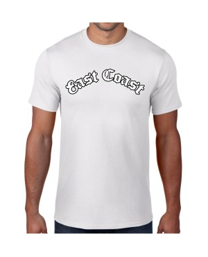Good Vibes East Coast White T-shirt