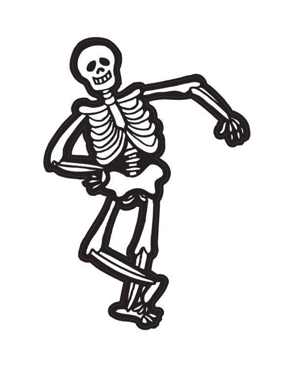 "Halloween Skeleton Magnet or Sticker for Indoor or Outdoor Use 4.5"" 6.5"""
