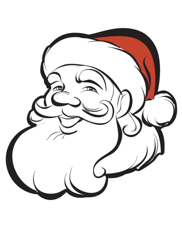 """Santa Magnet or Sticker for Indoor or Outdoor Use 5"""" x 5"""""""