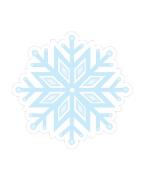 "Snowflake Magnet or Sticker for Indoor or Outdoor Use 5.5"" x 5.5"""