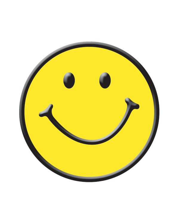 """Smiley Face Magnet or Sticker for Indoor or Outdoor Use 6"""" x 6"""""""