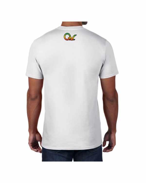 Good Vibes Rasta White Lion Logo T-shirt