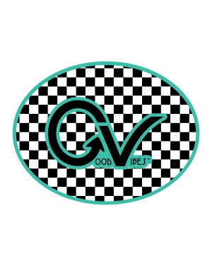 Good Vibes Teal Black GV Logo