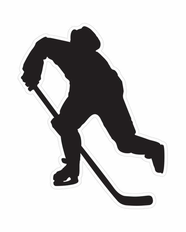 "Hockey Magnet or Sticker for Indoor or Outdoor Use 5"" x 6"""