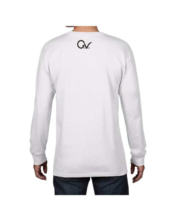 Good Vibes Black Gorilla White Long Sleeve T-shirt