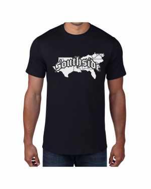 Good Vibes Southside Map Black T-shirt