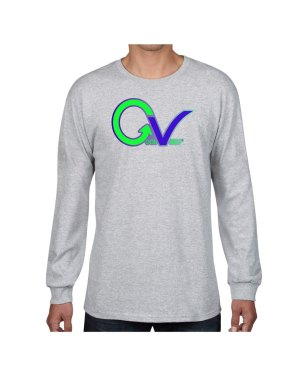 Good Vibes Green Purple Logo Gray Long Sleeve T-shirt