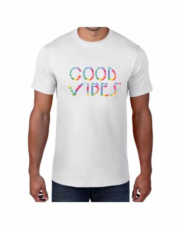 Good Vibes Tie Dye White T-shirt
