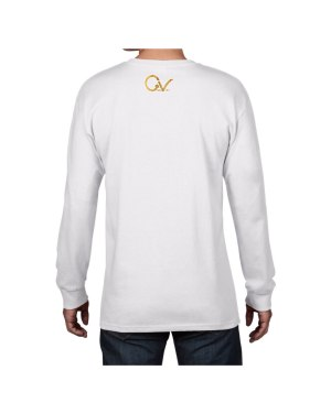 Lion White Long Sleeve Back