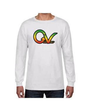 Good Vibes Rastafarian GV White Long Sleeve T-shirt