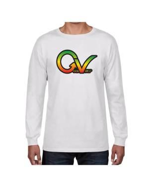 Good Vibes Rastafarian GV White Long Sleeve T-shirt