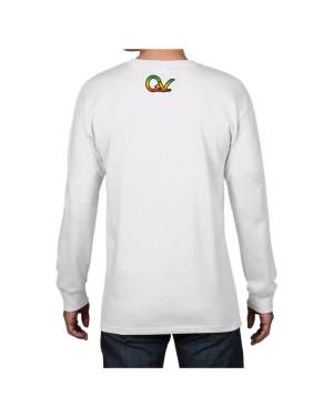 Good Vibes Rastafarian Lion GV White Long Sleeve T-shirt