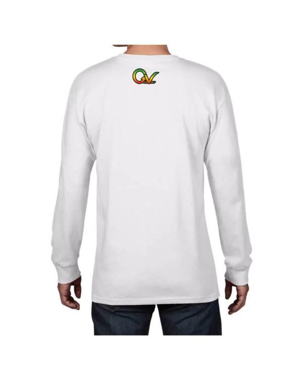 Good Vibes Rastafarian Lion GV White Long Sleeve T-shirt