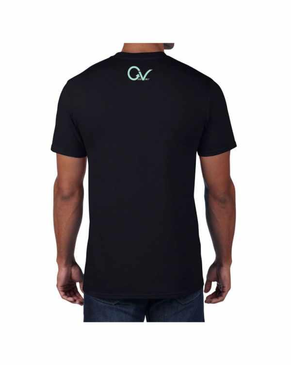 Teal Good Vibes Black T-shirt