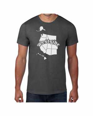 Good Vibes Westside Map Gray T-shirt