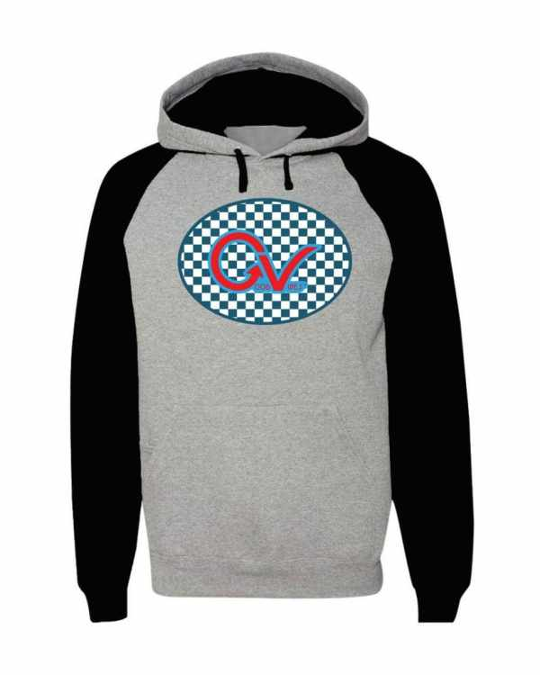 Good Vibes Blue Red Checkered Tri Color Hoodie