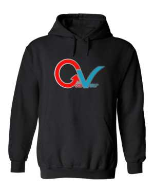 Good Vibes GV Multi Color Black Hoodie