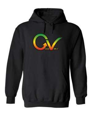 Good Vibes Rastafarian GV Black Hoodie