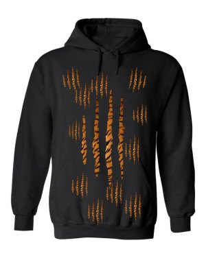 Good Vibes™ Unisex Tiger Claw Hoodie. This is a Heavyweight Hoodie 50% cotton and 50% Polyester with Front pouch pocket