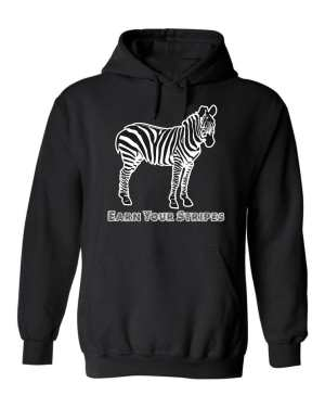 Good Vibes™ Unisex Earn Your Stripes Hoodie. This is a Heavyweight Hoodie 50% cotton and 50% Polyester with Front pouch pocket
