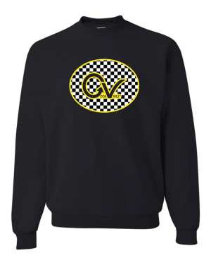 Good Vibes Yellow Checker GV Black Sweatshirt