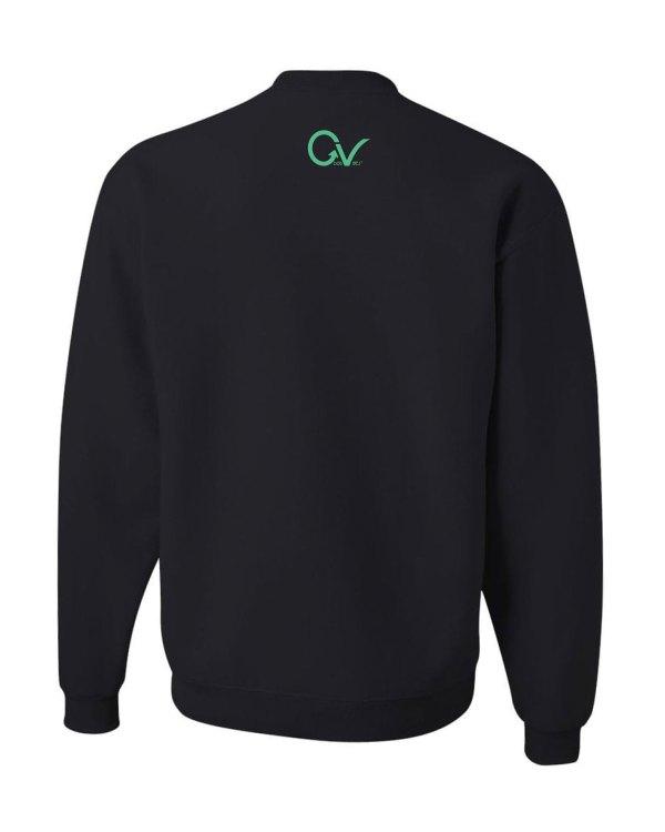 Good Vibes Dark Teal Black Sweatshirt