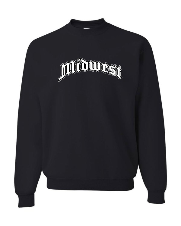 Good Vibes Midwest Black Sweatshirt