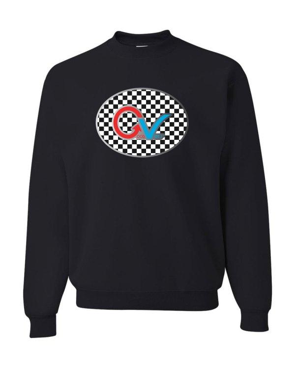 Good Vibes Black Checker Multi Color GV Logo Sweatshirt