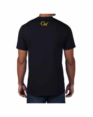 Good Vibes Rastafarian GV Black T-shirt