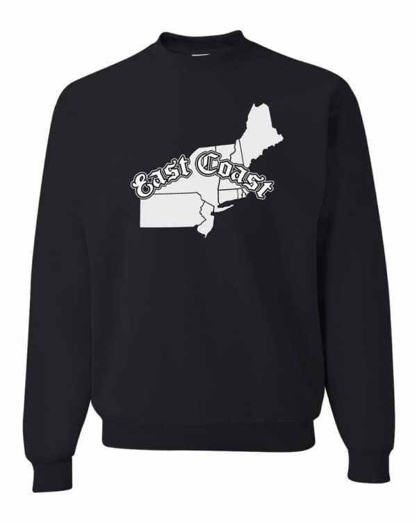 Good Vibes East Coast Map Black Sweatshirt