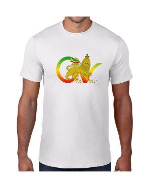 Good Vibes Flag Rasta WhiteT-shirt