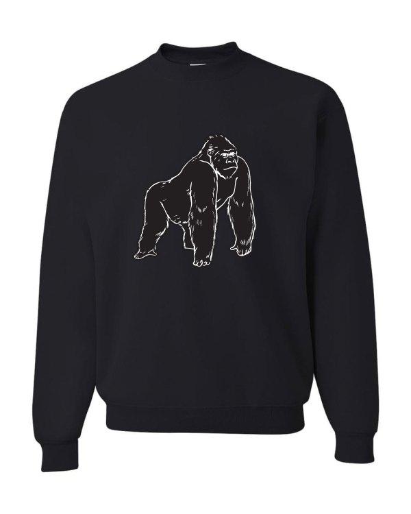 Good Vibes Black Gorilla Black Sweatshirt