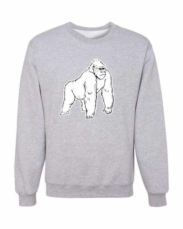 Good Vibes White Gorilla Gray Sweatshirt