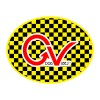 """Good Vibes Yellow Checker Sticker for Indoor or Outdoor Use 4"""" x 3"""""""