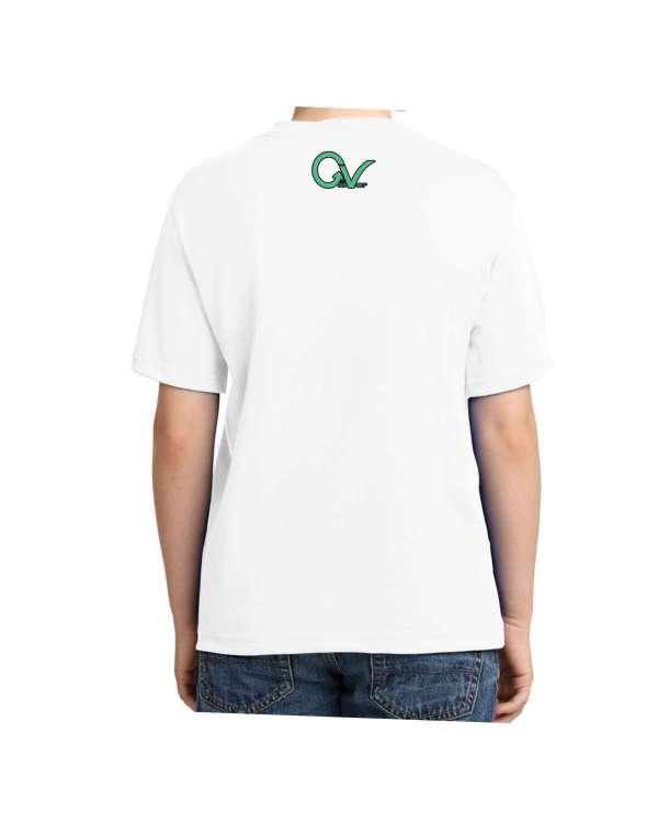 Kids Green Good Vibes Logo T-shirt 5.6 oz., 50/50 Heavyweight Blend White T-Shirt