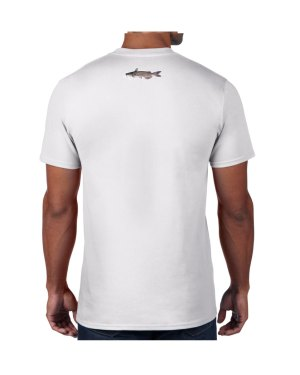 Catfish White T-shirt 5.6 oz., 50/50 Heavyweight Blend