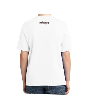 Kids Catfish T-shirt  5.6 oz., 50/50 Heavyweight Blend White T-Shirt