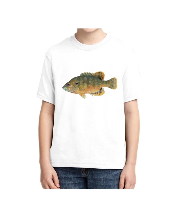 Kids Green Sunfish Kids Green Sunfish5.6 oz., 50/50 Heavyweight Blend White T-Shirt